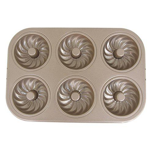 Shop Rectangular Cake Mold DIY Alloy Non-stick Round Oven Household 6 Whirlwind Cake Baking Mold