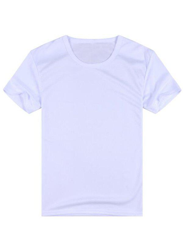 Affordable Men Short-sleeved Creative Hydrophobic T-shirt Waterproof Anti-fouling Quick-drying
