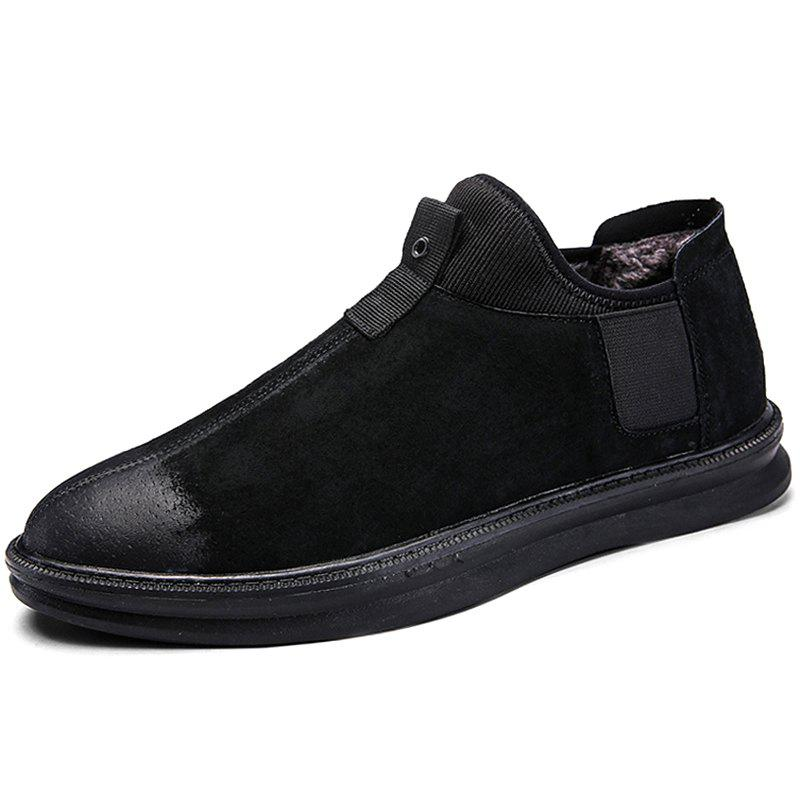 Chic Casual Cotton Leather Shoes for Men