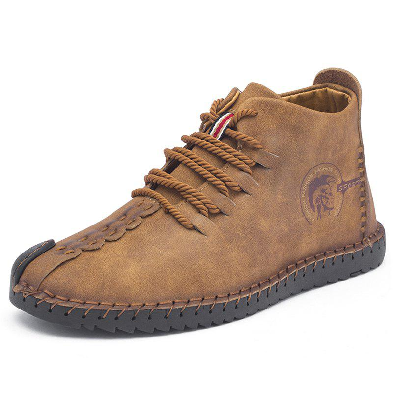 Cheap Men's Trend Large Size Handmade Shoes Leather Casual Shoes