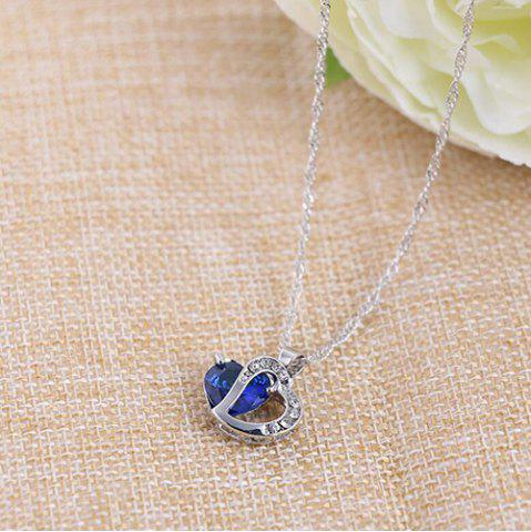 Heart Shaped Artificial Crystal Clavicle Necklace