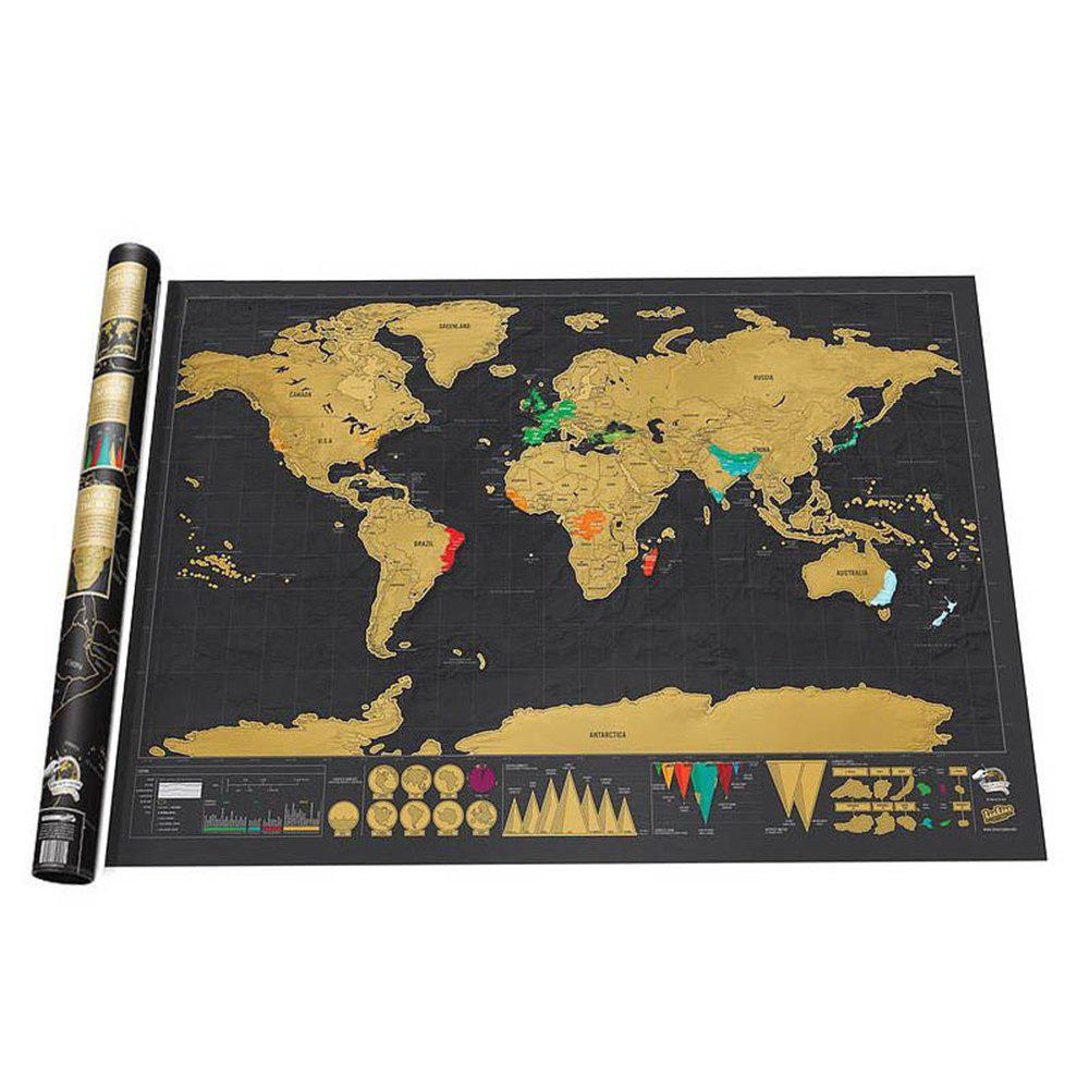 Discount Large World Black Luxury Edition Scratch Map Paper Travel Footprint