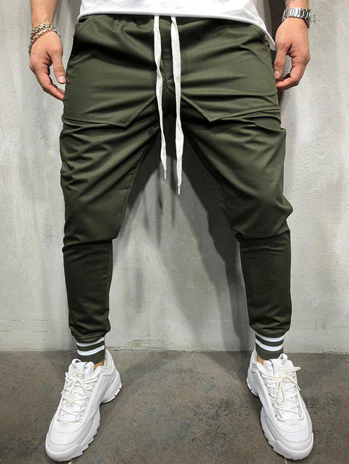 ac6b0f95d0 45% OFF] Personality Hip Hop Style Stitching Cotton Casual Pants For ...