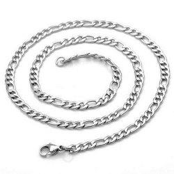 3 - J0372 Fashion Stainless Steel Necklace 9mm -