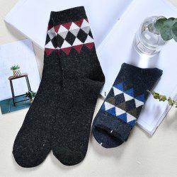 Men Small Triangle Rabbit Wool Stockings -