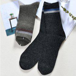 Men Strip Rabbit Wool Stockings -