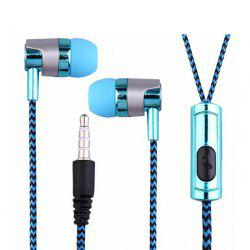G03 Electroplated Braided Wiring With Wheat Headset Wire Control Call Headset -