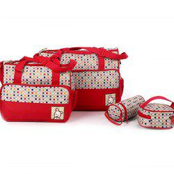 8816D Dot Print Mummy Bag Five-piece -