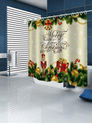 Christmas Decorations Print Waterproof Bathroom Shower Curtain -