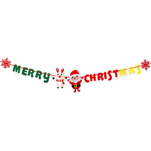 Hanging Flags Christmas Decorations Non-woven Flag for Shopping Mall Shop