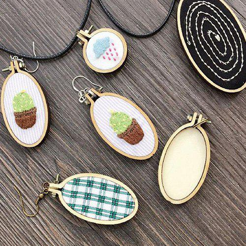 Hot 9 - 3C8D9 - 8 Wooden Small Embroidered Stretch Mini Jewelry Cross Stitch Fixed Frame Oval