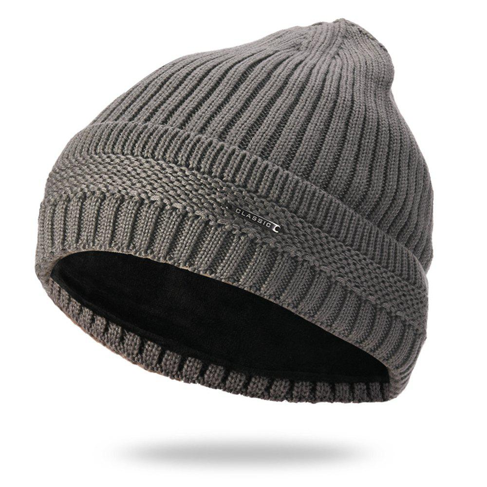 New Winter Hat Korean Version Plus Velvet Warm Wool  Double-layer High-end Head Protector Masked Cap for Men