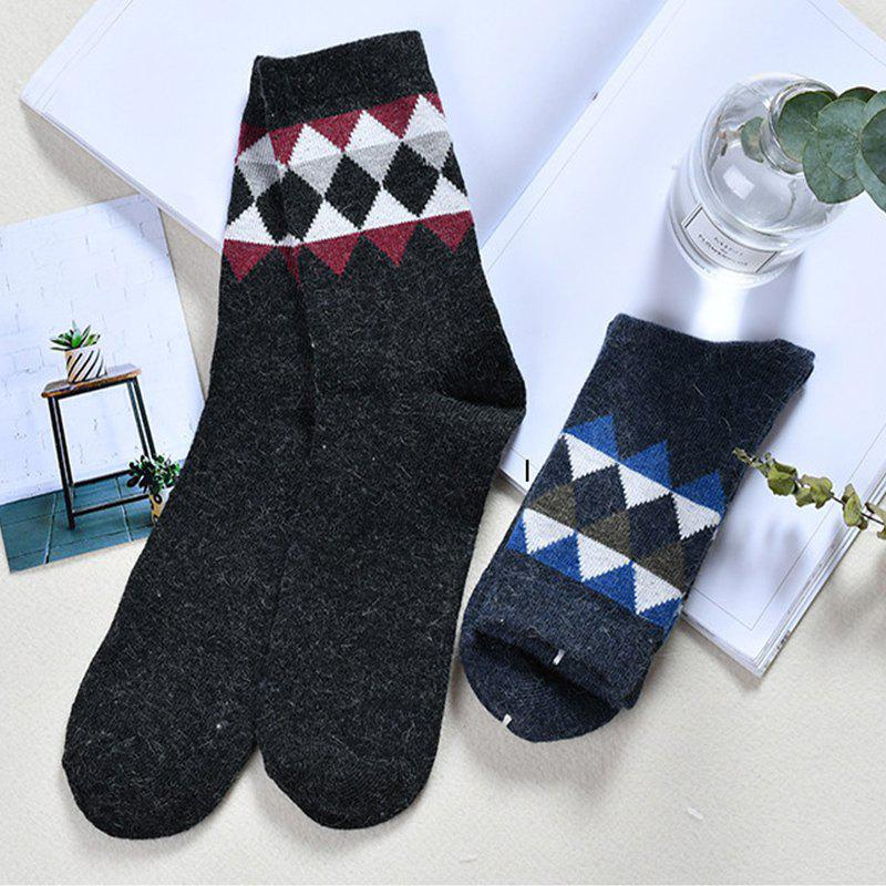 Fashion Men Small Triangle Rabbit Wool Stockings