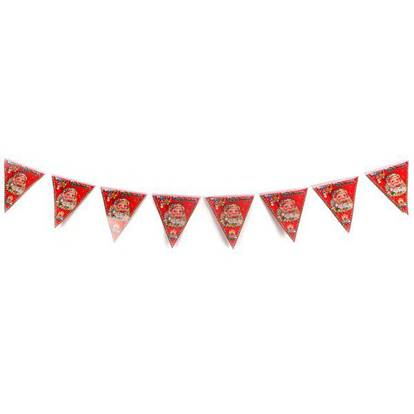 Shopping Mall Shop Decorations Non-woven Christmas Hanging Flags