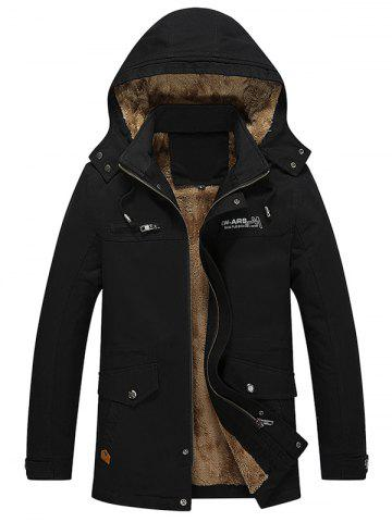 Autumn Winter Men Thick Brushed Coat Casual Hooded Jacket Parka