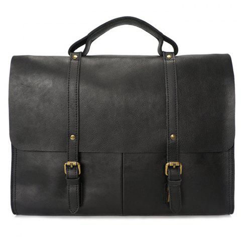f8d6531ee921 Men Briefcase Handmade Vintage Portable Leather Men Briefcase Handmade  Vintage Portable Leather - BLACK.  130.51. BULLCAPTAIN Business Leather  Shoulder Bag ...
