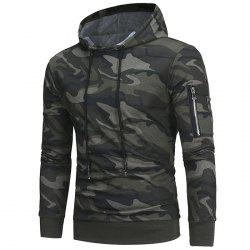 2018 Classic Camouflage Casual Men's Hooded Turtleneck Sweater -