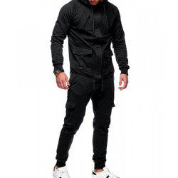 Men's Casual Solid Color Slim Sports Suit -