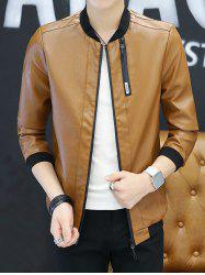 Leather Clothes Jacket Long-sleeved Men Jacket Boys Spring And Autumn Youth Handsome  Autumn Clothes -