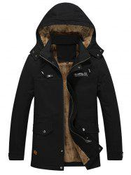 Autumn Winter Men Thick Brushed Coat Casual Hooded Jacket Parka -