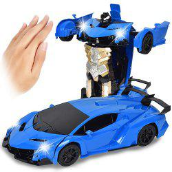 Gesture Sensing Robot One Button Transformation Remote Control Car Toy -