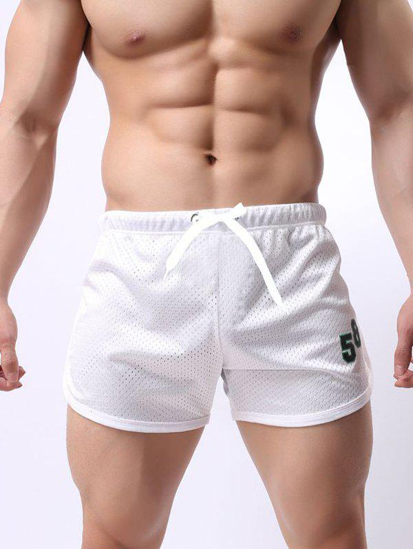 Online Men Mesh Breathable Quick-drying Beach Pants Double-layer Lace Sports Fitness Running Shorts