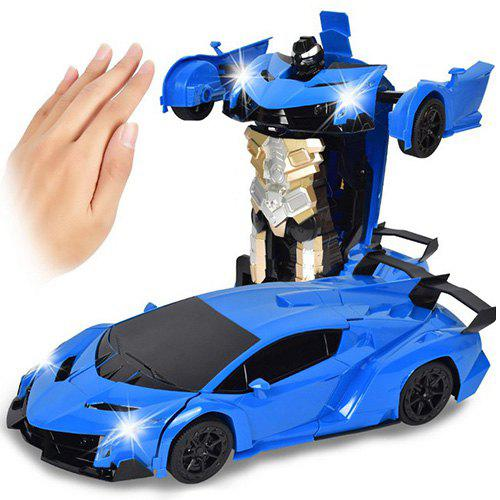 Online Gesture Sensing Robot One Button Transformation Remote Control Car Toy