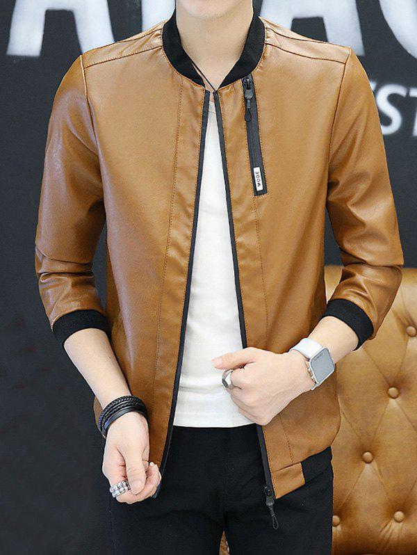 Outfit Leather Clothes Jacket Long-sleeved Men Jacket Boys Spring And Autumn Youth Handsome  Autumn Clothes