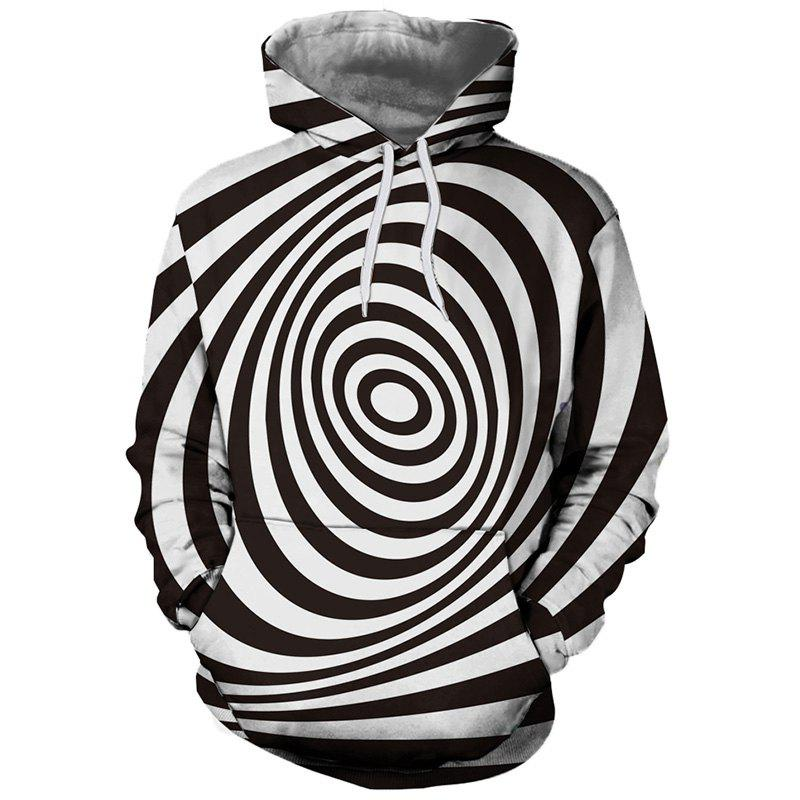 Shop Men's Fashion Personality 3D Digital Print Long-sleeved Hoodie Sweater