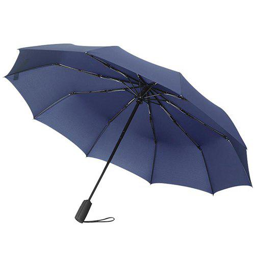 Trendy Automatic Large Reinforcement Men Solid Color Business Umbrella