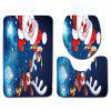 Dl2010 Christmas Snowman Bathroom Toilet Floor Mat Door Mat Toilet Seat 3pcs -