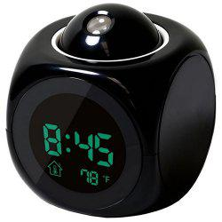 LED Colorful Projection Alarm Voice Report Projection Clock -