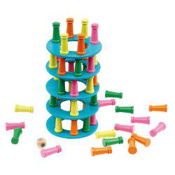 Wooden Stacking High Building Blocks Game Parent child Interaction Child Balance Exercise Intellectual Early Education Toys -