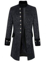 Men Leisure Trench Comfortable Long Classic Button -