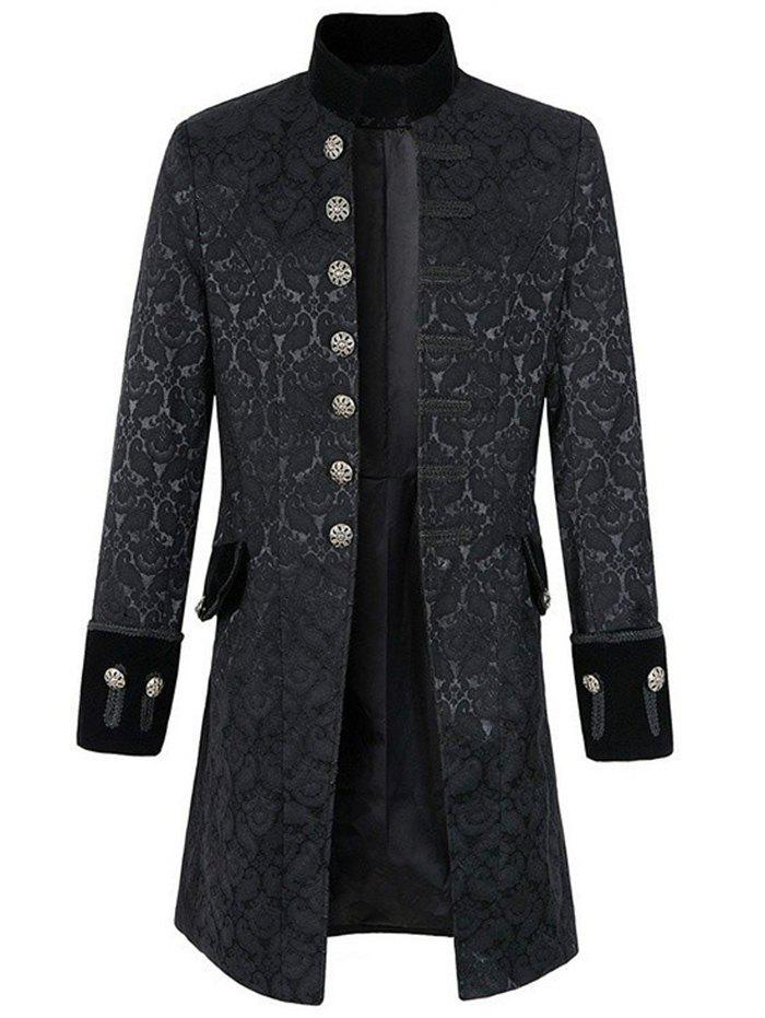 New Men Leisure Trench Comfortable Long Classic Button