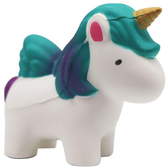 Outfits Simulation Animal PU Slow Rebound One-horn Star Horse Green Mane Squishy Decompression Hand Pinch Toy