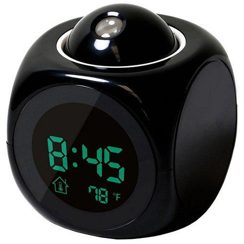 Hot LED Colorful Projection Alarm Voice Report Projection Clock