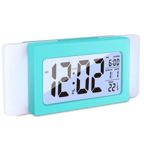 Shops Temperature Mute Electronic Light Sensation Alarm Clock