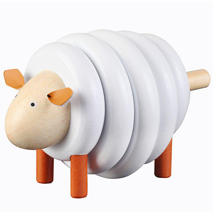 New Wooden Sheep Assembling Game Early Education Educational Toys Building Blocks