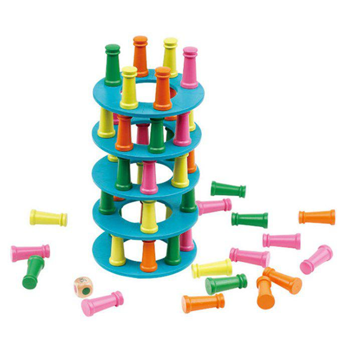 Trendy Wooden Stacking High Building Blocks Game Parent child Interaction Child Balance Exercise Intellectual Early Education Toys