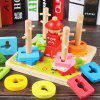 Geometric Shape Matching Toy Montessori Early Childhood Education Intellectual Baby Five Sets Of Column Blocks Cognitive Children 1 - 2 - 3 Years Old -