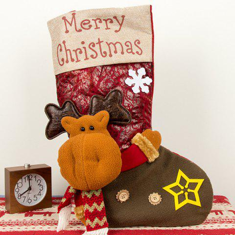 Large Three-dimensional Christmas Stockings Christmas Sock Gift Bags Christmas Candy Bags Christmas Day Decorations