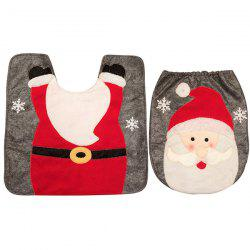 Creative Christmas Decoration Toilet Mat Floor Mat for Bathroom -