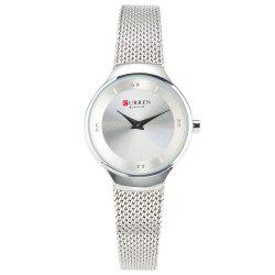 CURREN Mesh Belt Ladies Waterproof Quartz Watch -