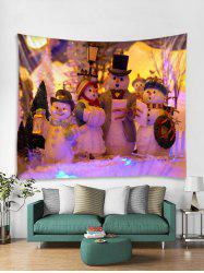 Christmas Snowmans Tapestry Art Decoration -