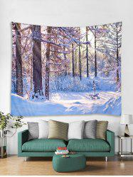 Christmas Snow Forest Tapestry Art Decoration -