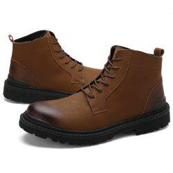 Men Leisure High-top Boots Warm Comfortable Lace-up -