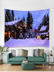 Christmas Snow House Tapestry Art Decoration -