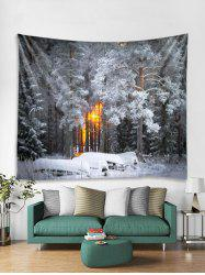 Christmas Snow Pattern Tapestry Art Decoration -