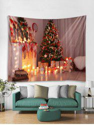 3D Christmas Tree Candle Bear Tapestry Art Decoration -